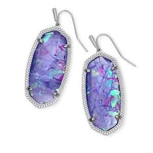 NWT! Kendra Scott Danielle Earrings Lilac Illusion